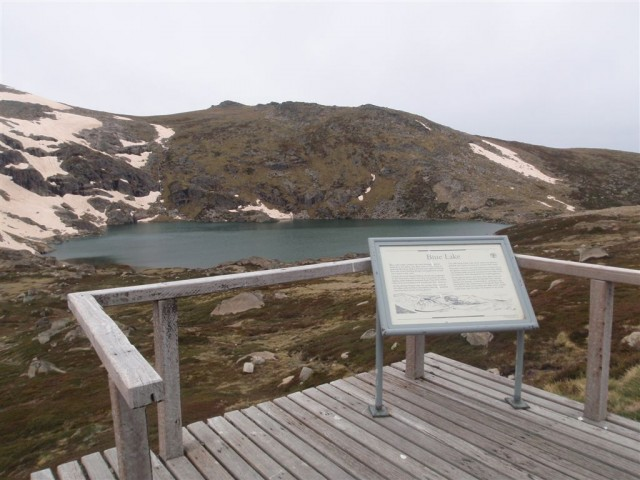 Glacier information sign
